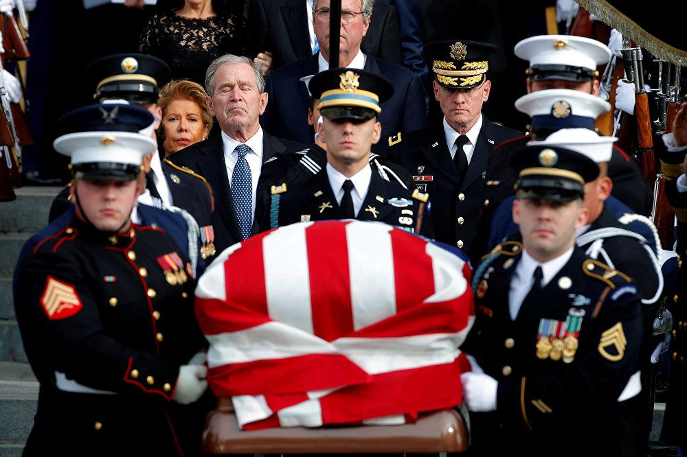 АКШнын мурдагы президенти Жорж-Буш улуусу менен коштошуу зыйнаты Вашингтон шаарында болду