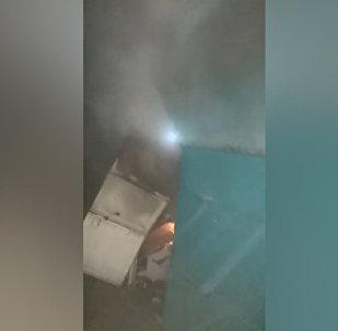 На рынке Каракола вновь произошел пожар — видео с места происшествия