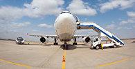 Самолет в международном аэропорту Манас. Архивное фото