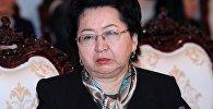 Кыргызстандын Финансы министрлиги мекеменин башчысы Бактыгүл Жээнбаева. Архивдик сүрөт