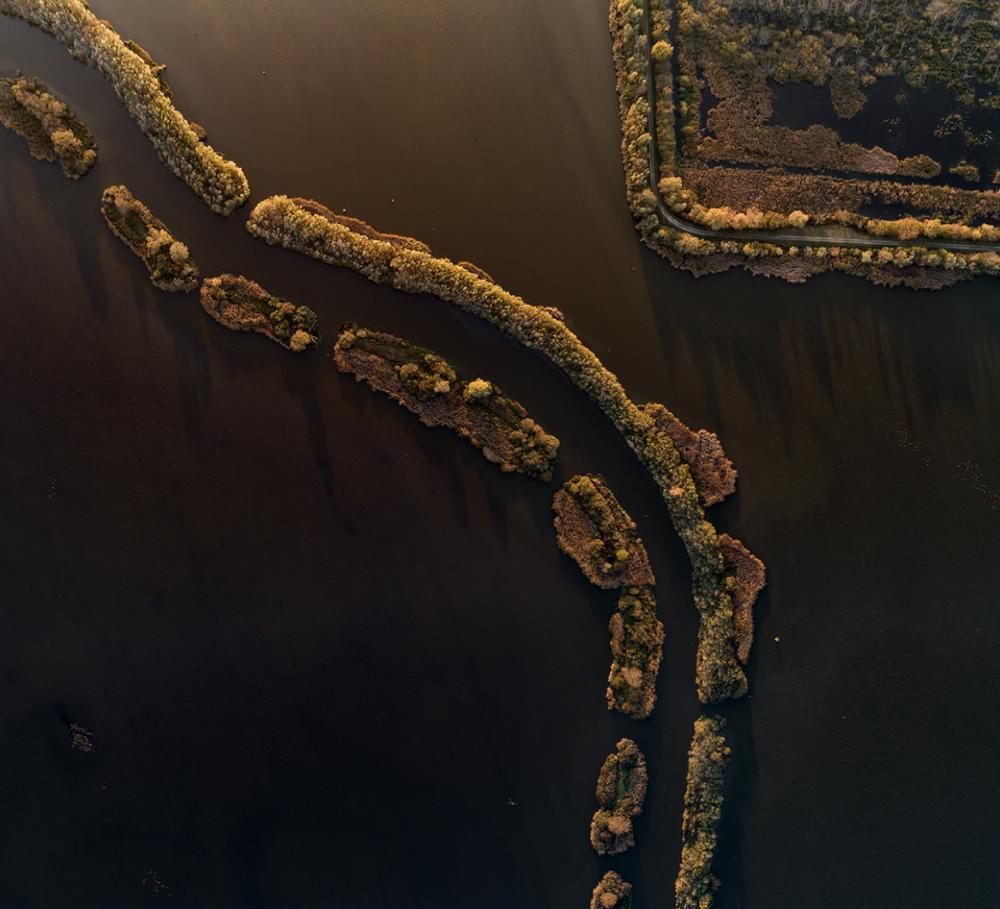 Река Зала, протекающая через болото Малый Балатон в Венгрии