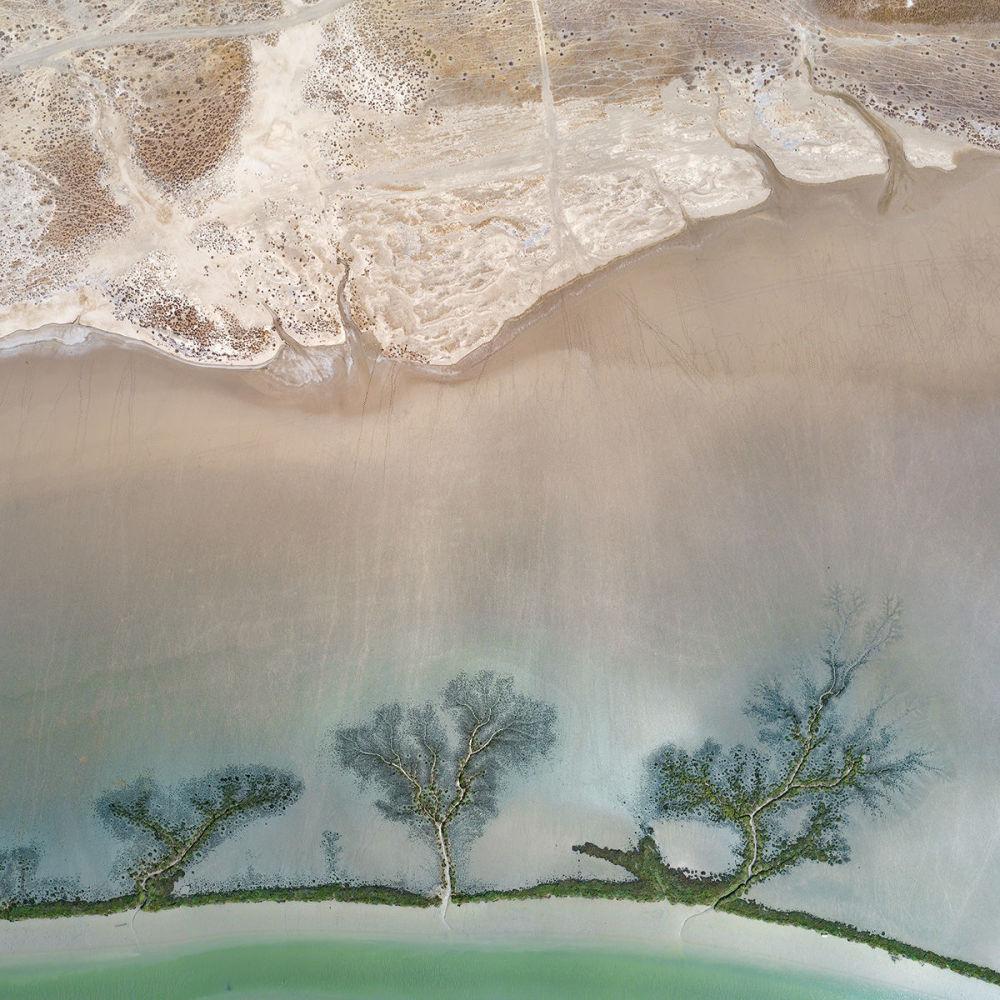 Солончаки в природном парке на юге Испании