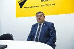 Айыл чарба, тамак-аш өнөр жайы жана мелиорация министринин орун басары Жаныбек Керималиев. Архив