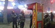 Демонтаж силомеров в центре Бишкека