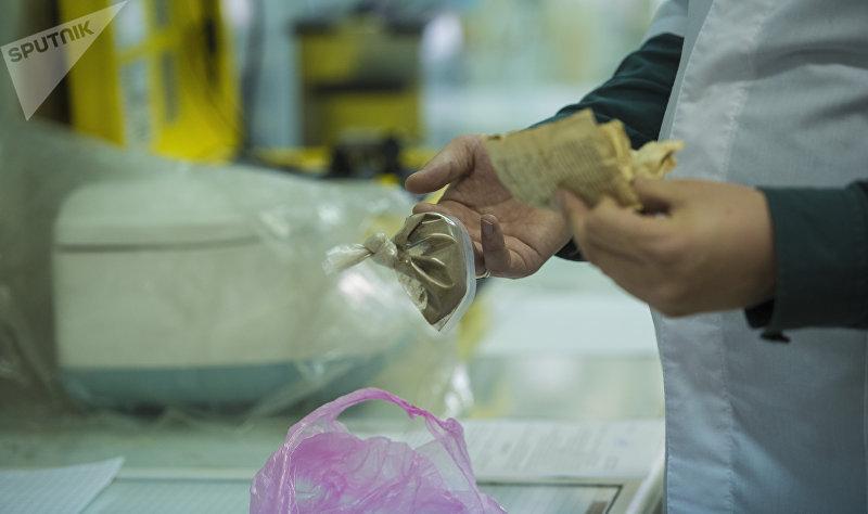 Анализ наркотического вещества в лаборатории криминалистического сопровождения и оперативного анализа МВД КР