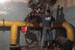 Сотрудники муниципального предприятия Тазалык проводят работы по очистке и ремонту фонтанов