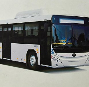 Автобус, работающий на газе который будет поставляться в Бишкек китайской корпорацией