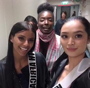 Салам, Кыргызстан!. Красавицы с Мисс Вселенная передают привет — видео