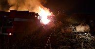 В Бишкеке на территории муниципального предприятия Зеленхоз загорелась одна из площадей