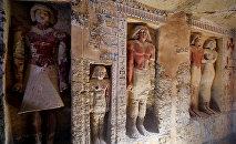Обнаруженная археологами нетронутая гробница возрастом 4 400 лет, в которой покоится верховный жрец Ватайе. Египет, 15 декабря 2018 года