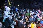 В парке Победы имени Даира Асанова в воскресенье, 16 декабря, зажгли новогоднюю елку