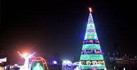 Зажжение новогодней елки на центральной площади Оша