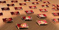 Изготовление 10 тысяч нагрудных знаков для депутатов местных кенешей
