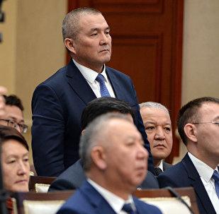 Экс-министр транспорта и дорог Жамшитбек Калилов на заседании Совета безопасности. Архивное фото