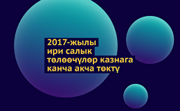 2017-жылы ири салык төлөөчүлөр казнага канча акча төктү