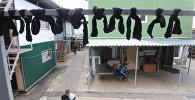 Носки на сушилке. Архивное фото
