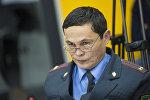 Главный инспектор Службы общественной безопасности МВД Рашид Карабаев на круглом столе в мультимедийном пресс-центре Sputnik Кыргызстан