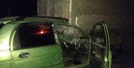 В Ноокатском районе автомобиль марки Daewoo Matiz врезался в припаркованный на обочине грузовик