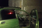 Ноокатта Daewoo Matiz үлгүсүндөгү унаа жолдо токтоп турган жүк ташуучу унаага урунду