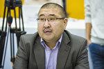 Бишкек жүргүнчүлөр автотранспорт ишканасынын директору Нурлан Койчубаков. Архив