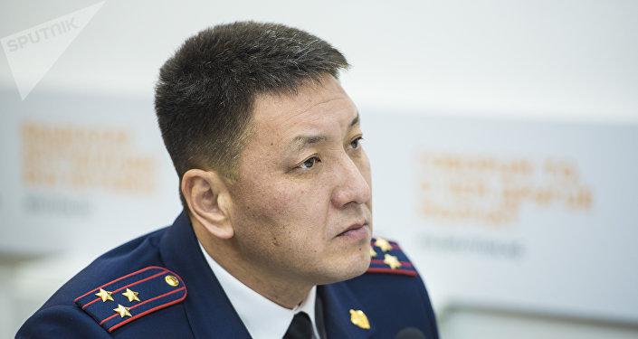 Начальник Управления обеспечения безопасности дорожного движения ГУВД Бишкека Шайырбек Бопонов. Архивное фото