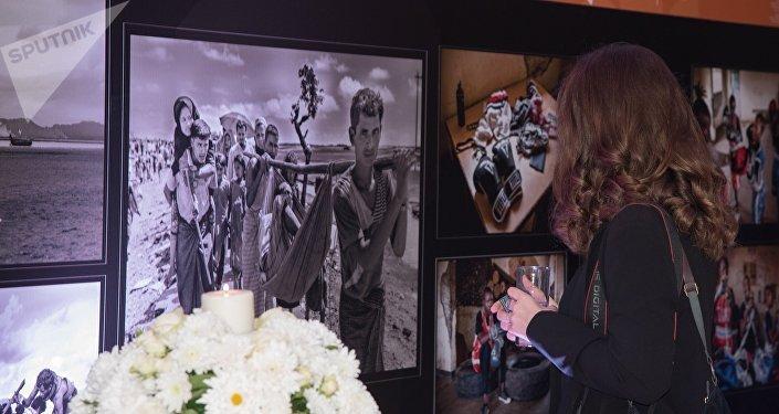 Выставка победителей Международного конкурса фотожурналистики имени Андрея Стенина в Бейруте. Архивное фото