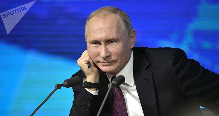 Россия президенти Владимир Путин жыл жыйынтыктоочу маалымат жыйынында