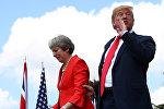Британиялык премьер-министр Тереза Мэй жана АКШ президенти Дональд Трамп. Архив