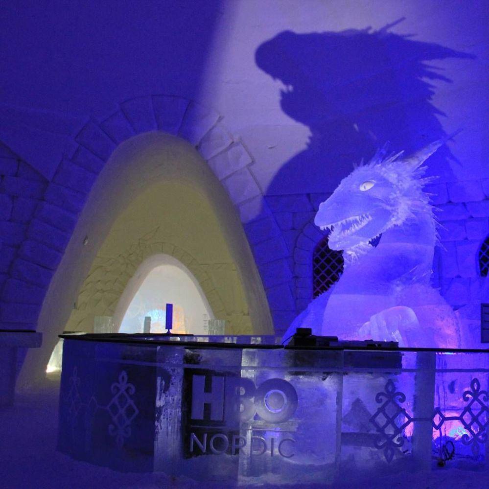 Дизайн Snow Hotel выполнен в стиле сериала Игра престолов (Финляндия)
