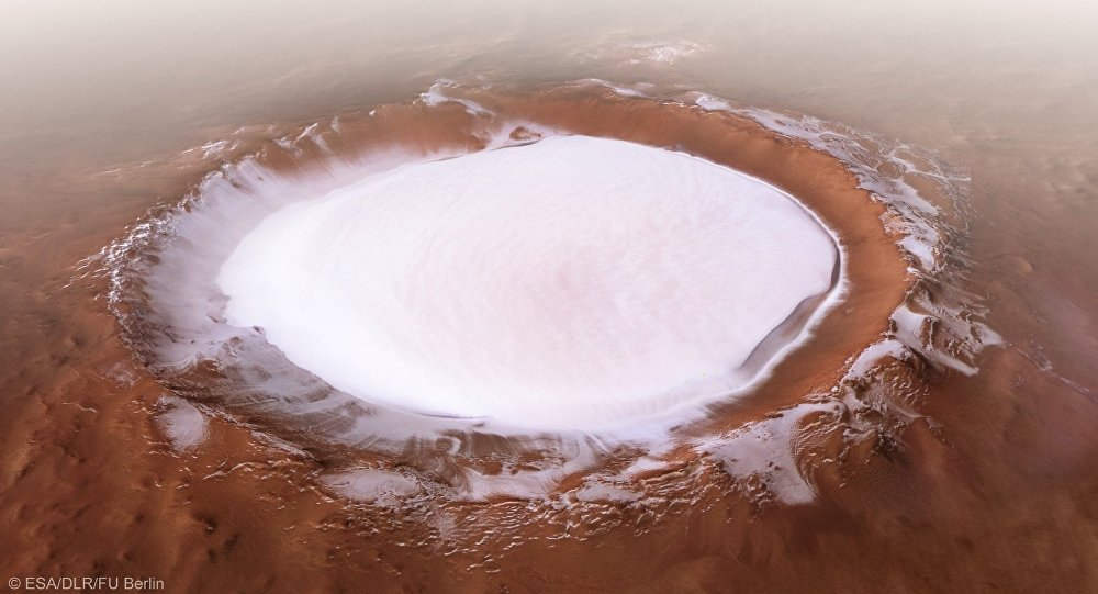 Марсианский кратер Королева