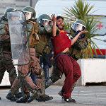 Акция протеста против оператора TPS в Чили