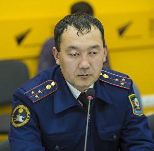 ИИМдин туристтик милиция бөлүмүнүн жетекчиси Борборбек Ташматов. Архив