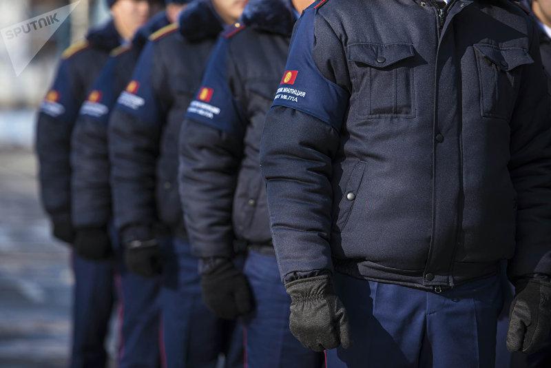 Сотрудники туристической милиции Бишкека
