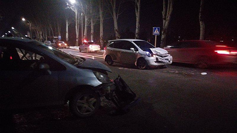 В столице на проспекте Айтматова (правительственная трасса) столкнулись легковые автомобили