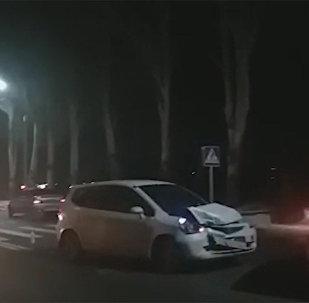Бишкекте өкмөттүк трассада жол кырсыгы болду