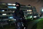 Вооруженный полицейский в Швеции. Архивное фото