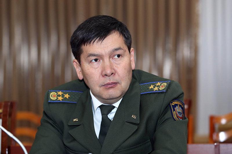 Глава Госкомитета национальной безопасности Идрис Кадыркулов на заседании