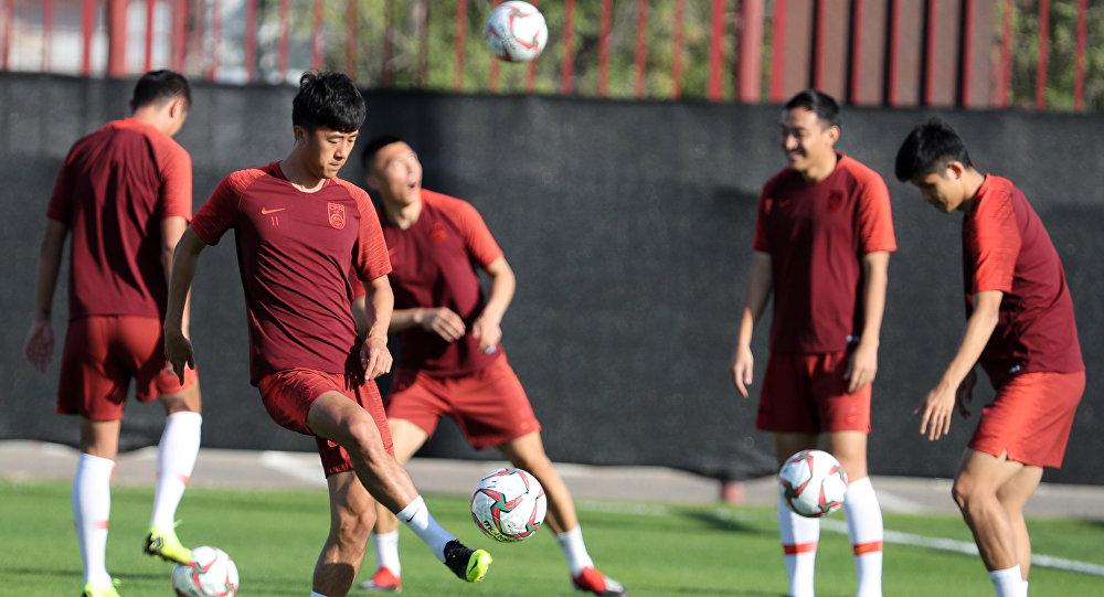 Игроки сборной Китая по футболу. Архивное фото