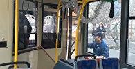 Бишкекте троллейбус менен автобустун айдоочусу мушташа кетти. Видео
