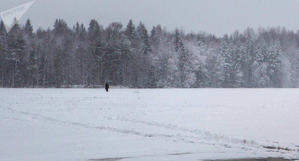 Мужчина у поляны. Архивное фото