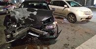 Четыре автомобиля столкнулись на пересечении улиц Токтогула и Ибраимова в Бишкеке