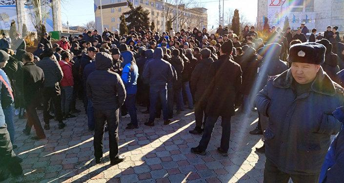 Митинг на площади Ала-Тоо в Бишкеке против китайской экспансии
