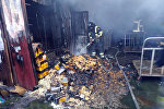 В селе Лебединовка Чуйской области вспыхнул пожар на складе одного из магазинов