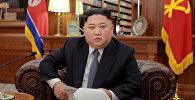Архивное фото главы КНДР Ким Чен Ына в Пхеньяне