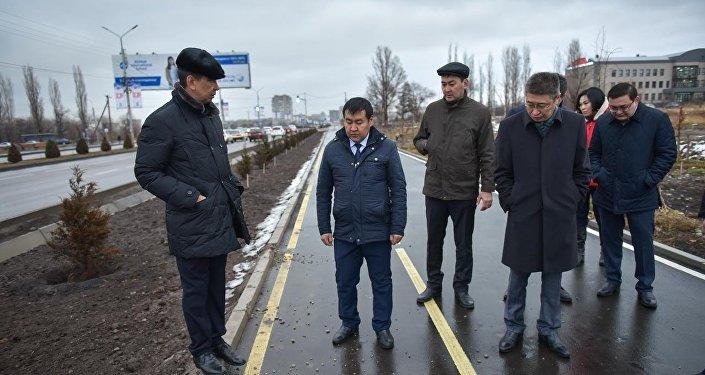 Строительство парка на пересечении улицы Токтоналиева и Южной магистрали
