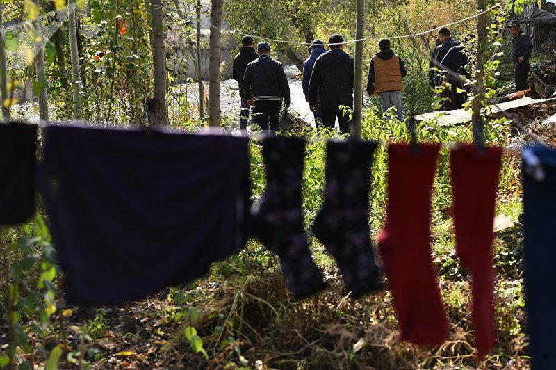 Сотрудники МВД прочесывают камышовые рощу в жилмассиве Энесай