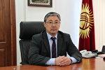 Бишкек шаарынын биринчи вице-мэри Алмаз Бакетаев. Архив