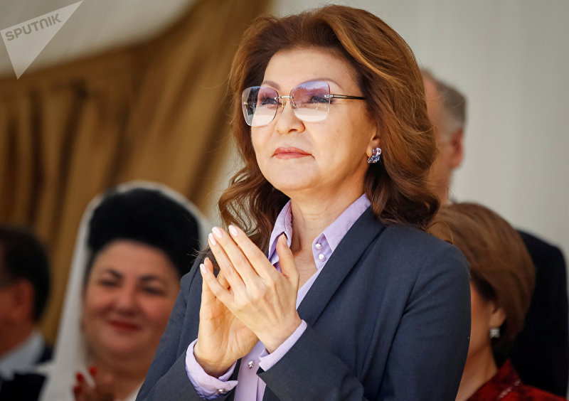 Дочь президента Казахстана Нурсултана Назарбаева Дарига Назарбаева во время праздника Дня народного единства Казахстана в Алматы.