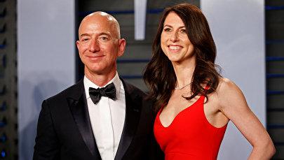 Глава и основатель интернет-компании Amazon Джефф Безос и с женой Маккензи. 4 марта 2018 года