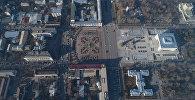 Вид с дрона на площадь Ала-Тоо в Бишкеке